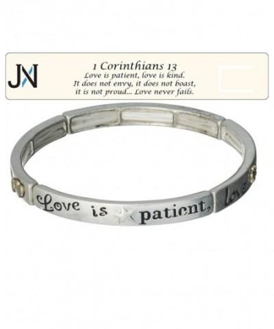 Love Is Kind Silver Tone Bracelet