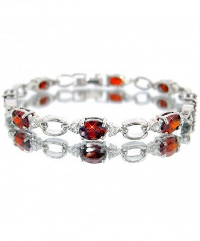 Ruby Color Silver Bracelet BC411