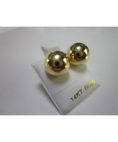 Gold Plated Brass Ball Earrings