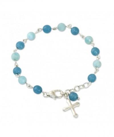 NOVICA Multi Gem Amazonite Sterling Bracelet
