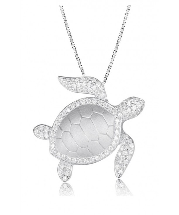 Sterling Silver Turtle Necklace Pendant