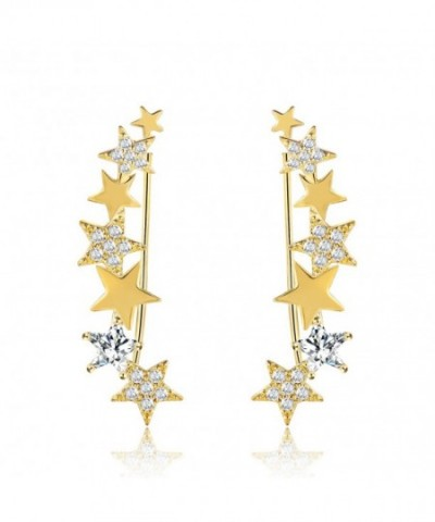 Mevecco Crawler Climber Earrings Jewelry Star4 GD