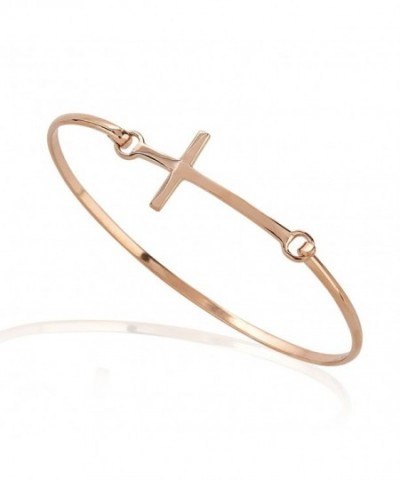 Gold Plated Sideways Christian Religious Bracelet