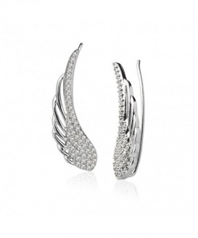 Sterling Zirconia Crawler Climber Earrings