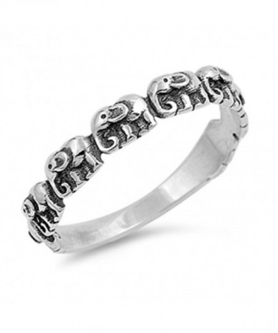 Elephant Small Sterling Silver Stackable