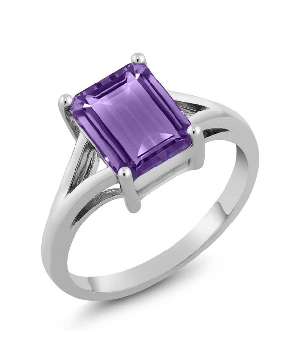Sterling Amethyst Birthstone Solitaire Available