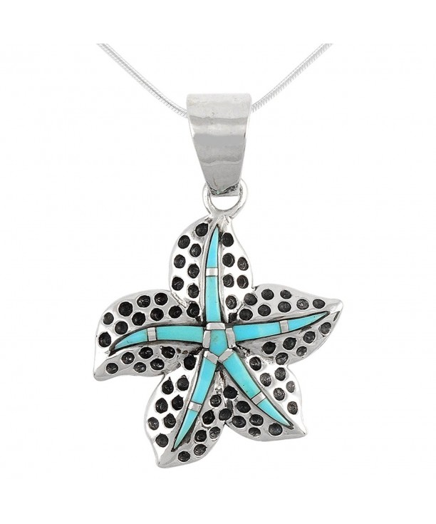 Turquoise Necklace Sterling different Starfish