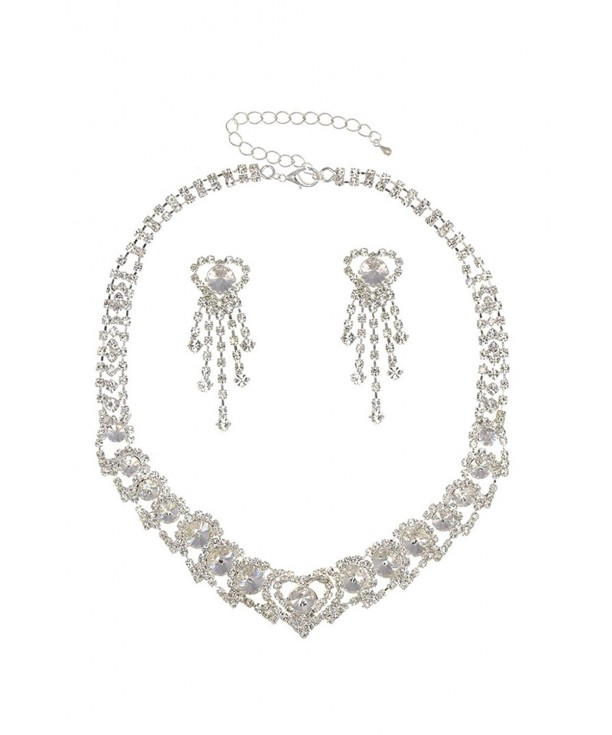 ... Jewelry Sets · Bridal Hearts Rhinestone Crystal Wedding Prom Necklace Earrings Set N258 C911FLRN0D3. Rhinestone Crystal Wedding Necklace Earrings