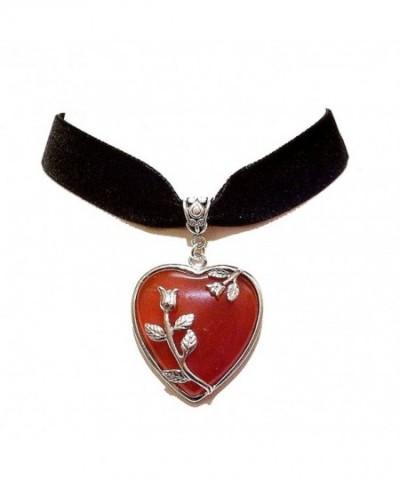 Black Velvet Choker Necklace Agate