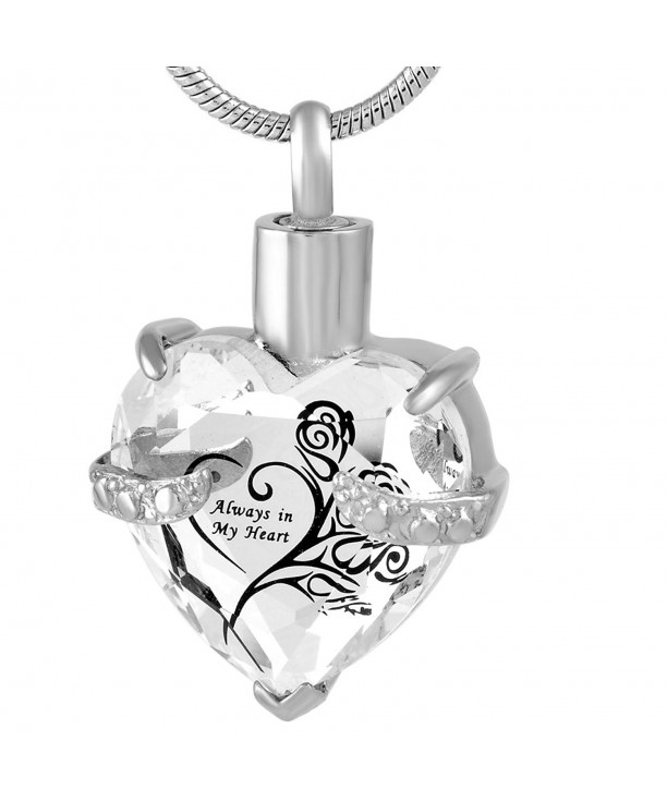 Crystal Necklace Stainless Cremation Memorial