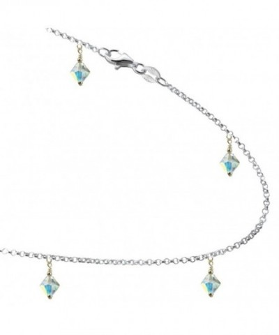 Colored Crystals Sterling Silver Bracelet