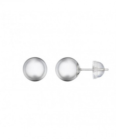 White Balls Earrings Comfort Silicone