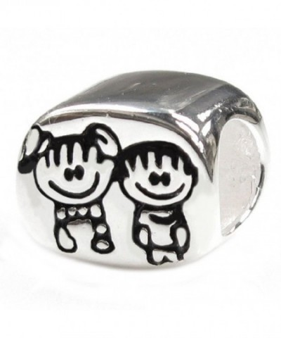 Sterling Silver Brother Sister European