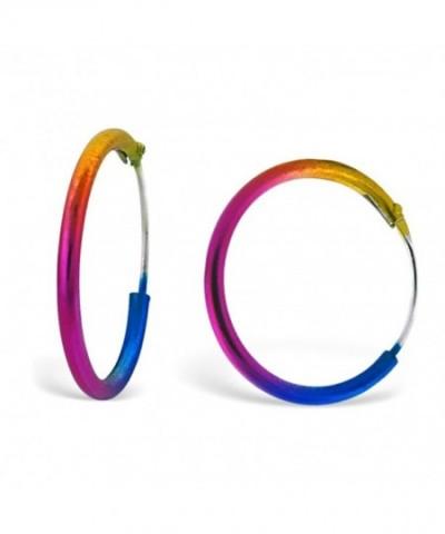 Cute Rainbow Coloured Small Earrings