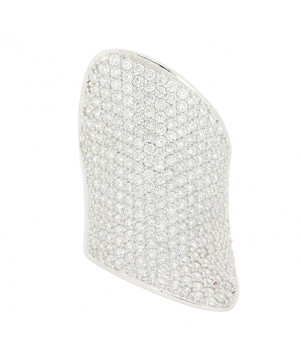 Sterling Silver Curve Pave Dome