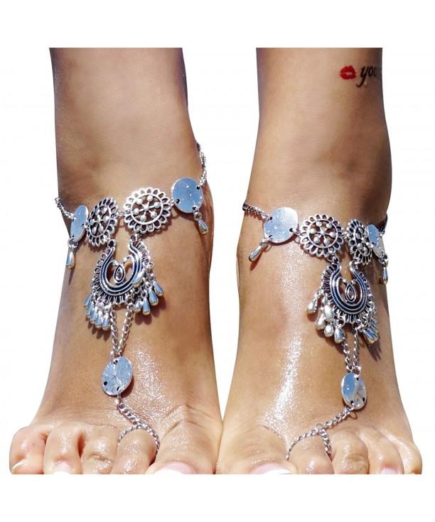 Chain Tassels Multi Bracelet Cj17z3ll2lu Sandals Jewelry Anklet Barefoot Beach Foot Sliver lKJF1cT
