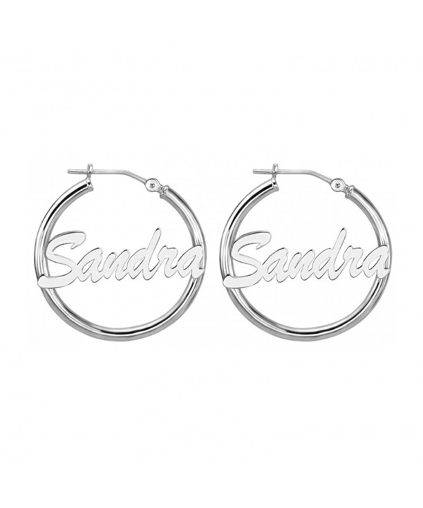 HACOOL Sterling Silver Personalized Earrings