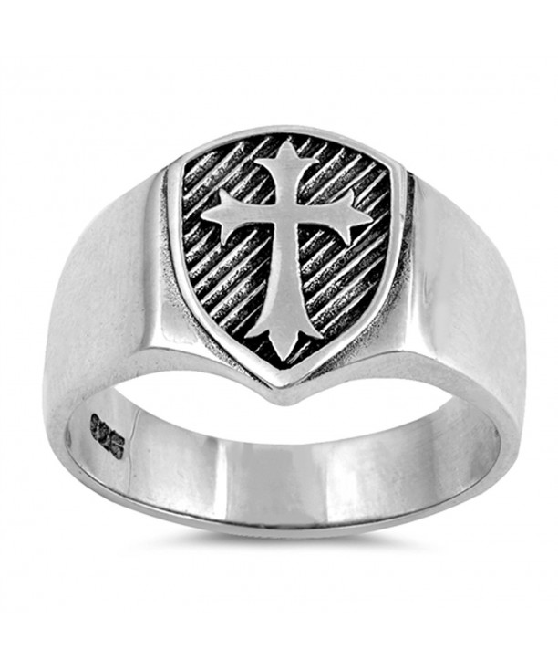Oxidized Etched Medieval Sterling Silver