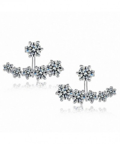 sanfnee Zirconia Crystal Jackets Earrings