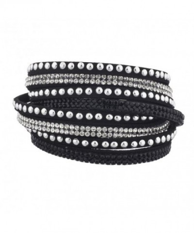 Lux Accessories Studded Crystal Bracelet