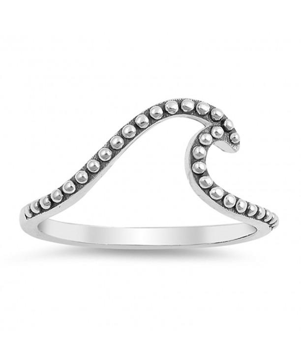 Ocean Simple Elegant Sterling Silver