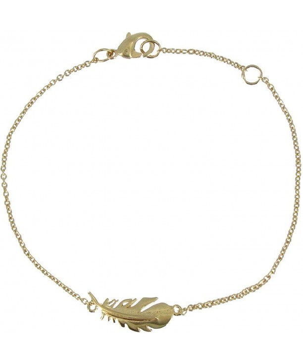 Poulettes Jewels Plated Bracelet Feather