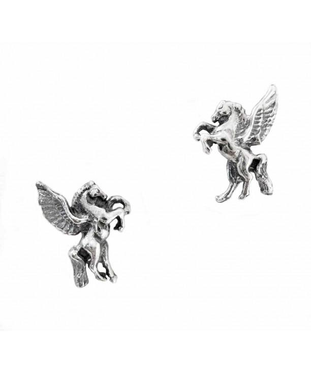 Sterling Silver Pegasus Stud Earrings