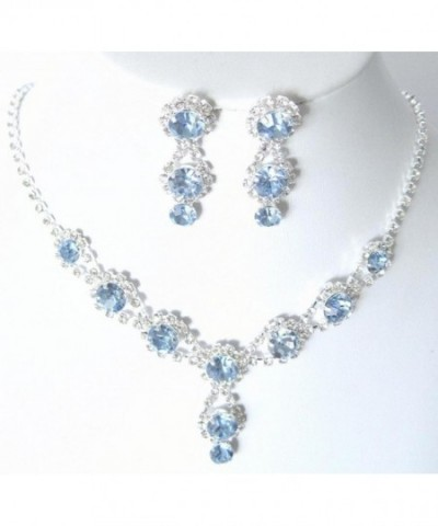 Stunning Evening Necklace Bling Rhinestone