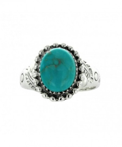 Oxidized Sterling Turquoise Gemstone Statement