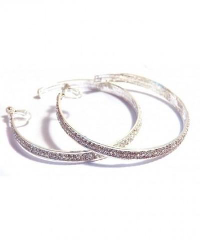 Clip Earrings Crystal Silver Pierced