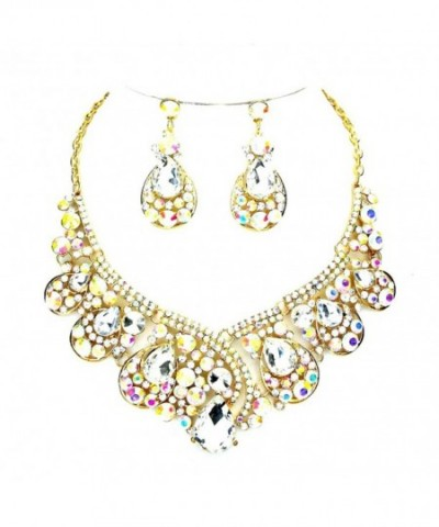 Iridescent Statement Affordable Wedding Jewelry