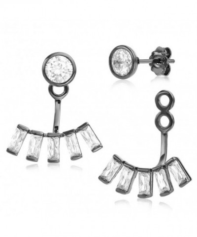 Jacket Rhodium Plated Sterling Quality Earrings